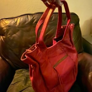 Lucky Brand Tote Bright Red Color